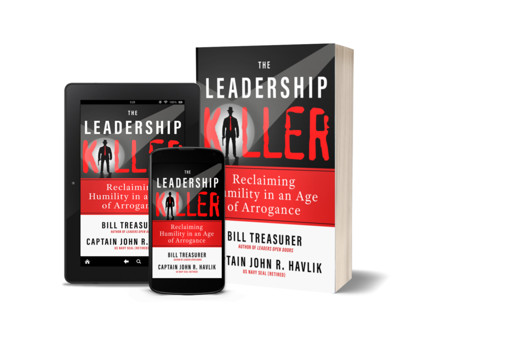 Various versions of The Leadership Killer book.
